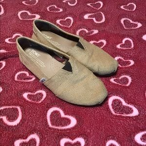 Burlap Toms shoes